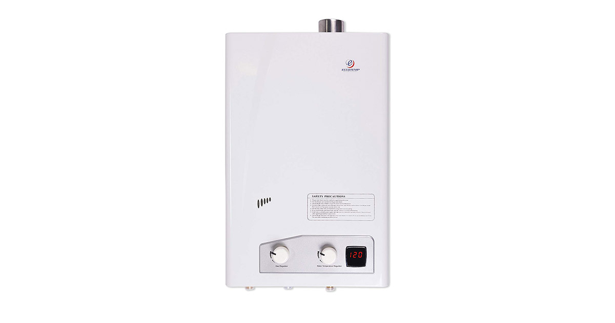 Eccotemp FVI-12 Natural Gas High Capacity Tankless White Water Heater image