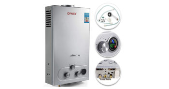 VEVOR 18L Propane Tankless Instant Boiler Stainless Steel Liquefied Petroleum Gas Water Heater image